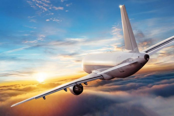 Commercial Airplane Jetliner Flying