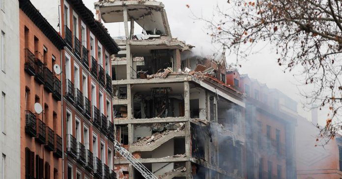 At least three dead as explosion rips through building in Madrid
