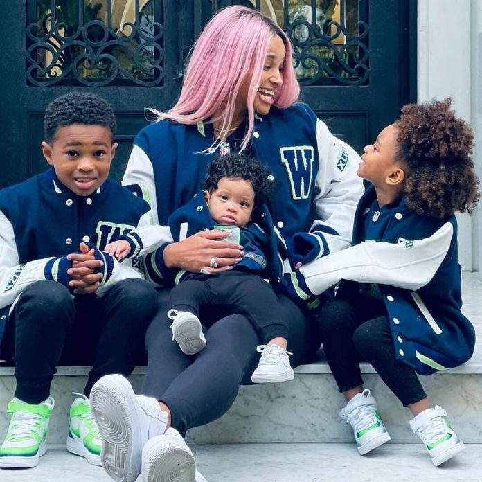 Ciara and Her Kids Wear Matching Jackets to Cheer on Russell Wilson - E! Online