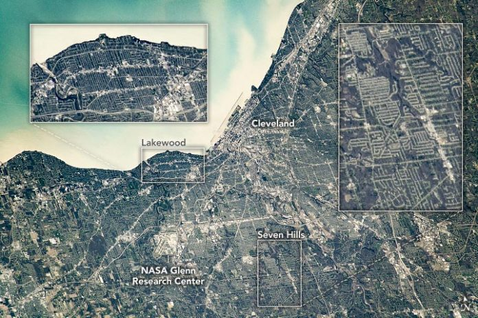 Cleveland, Ohio Satellite View Annotated