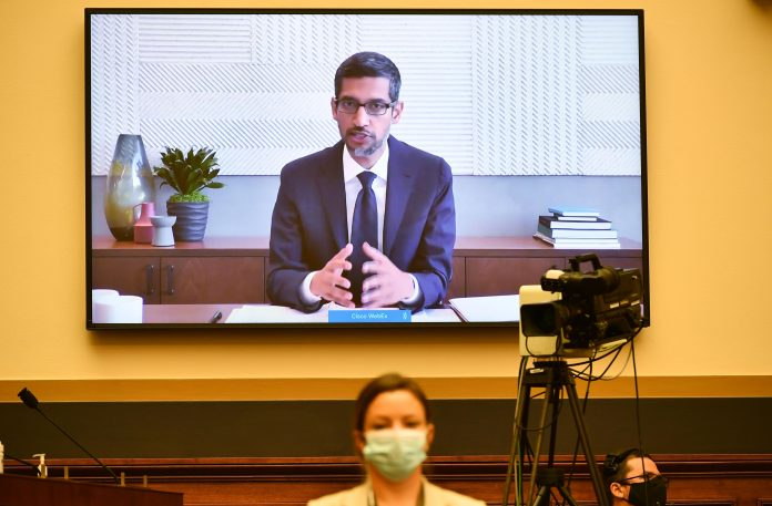 Google CEO Sundar Pichai testifies remotely before Congress
