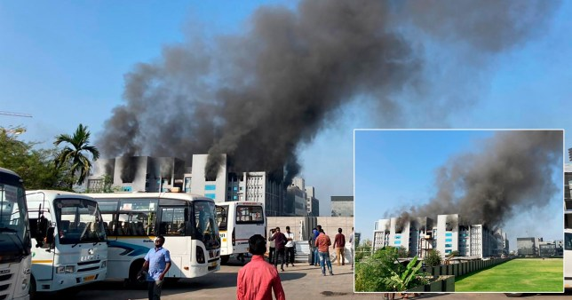 Fire breaks out at the Serum Institute of India (SII), in the western city of Pune.