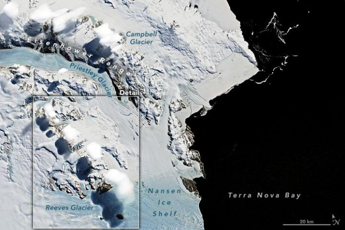 Clouds Transantarctic Mountains Annotated