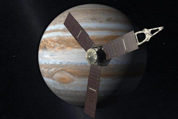 Juno Spacecraft in Orbit Around Jupiter