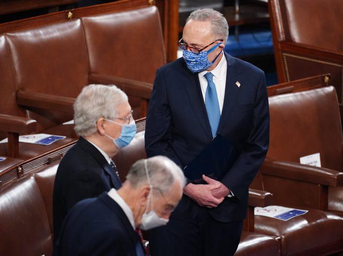 Schumer, McConnell speak about Trump impeachment trial, Senate control