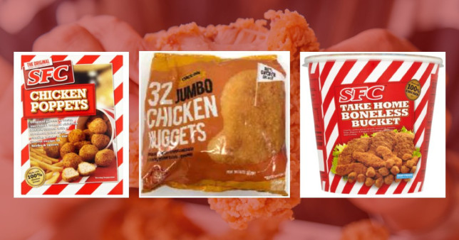 SFC chicken poppets, Chicken Inn chicken nuggets, SFC take home boneless bucket. Five deaths may be linked to salmonella found in various chicken products.