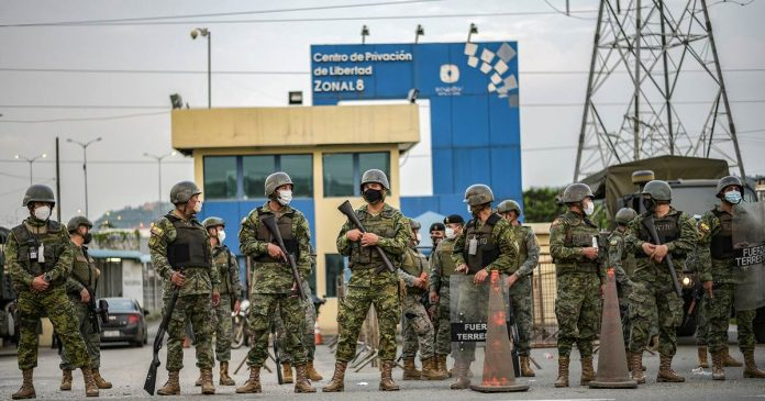 Prison riots in Ecuador sparked by rival gangs leave 62 dead