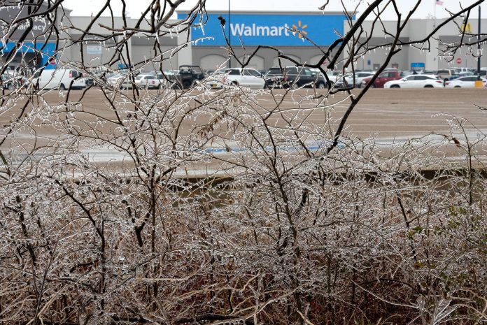 Winter storm shutters hundreds of Walmart stores, Amazon hubs