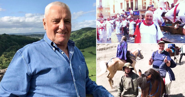 Verne McLean, the Brit on a horse and the Brit travelling. Verne McLean is looking for Mar, a Filipino friend he met in Libya, to include him in his will.