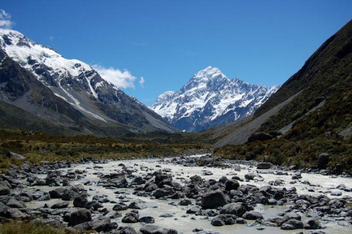 Glacier-Fed River Below Mount Cook, New Zealand