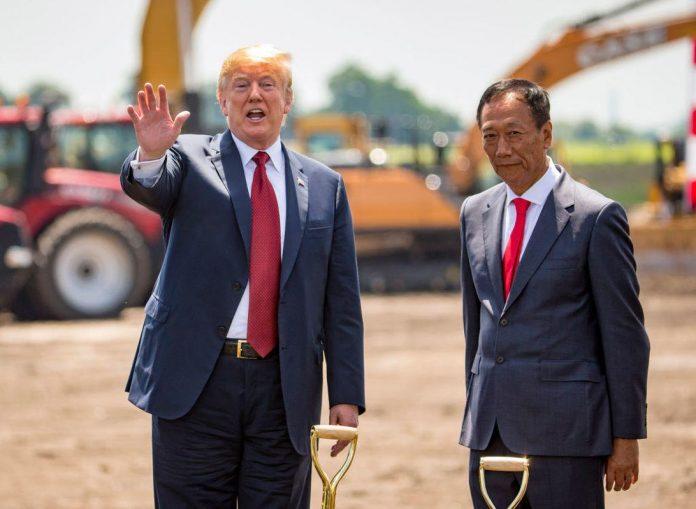 President Donald Trump attends Foxconn groundbreaking