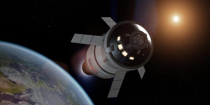 NASA Orion Spacecraft Trans lunar Injection Burn