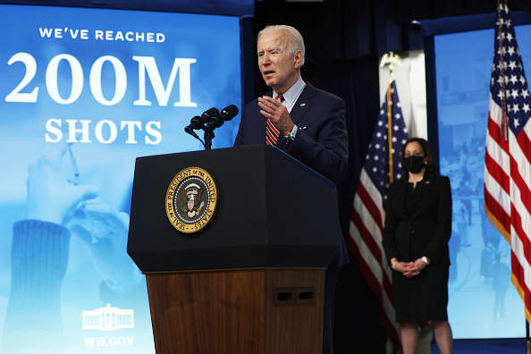 Biden wants 70% with at least 1 shot by July 4
