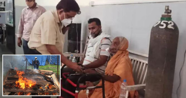 Woman in India wakes up on funeral bier after family thought she'd died of Covid India Today EPA