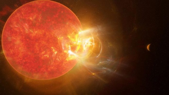 Violent Stellar Flare Proxima Centauri
