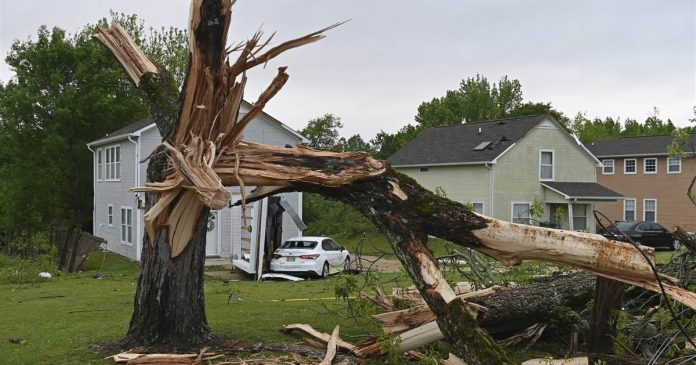 Large and dangerous tornado hit northeastern Mississippi