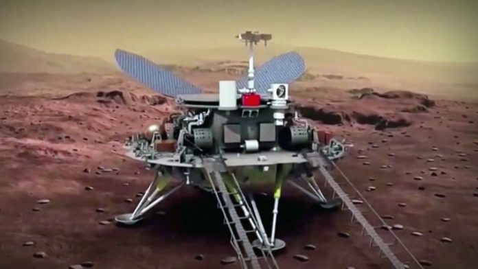 Martian rover Zhurong takes first drive on surface of Mars, China says