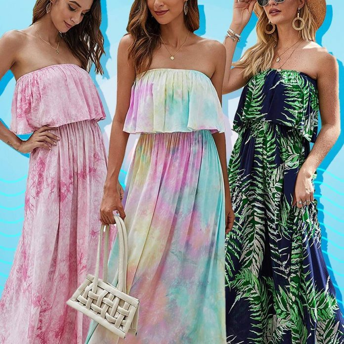 This $30 Strapless Maxi Dress Has 6,200 Five-Star Amazon Reviews - E! Online