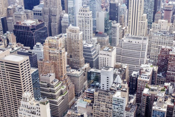 The view from the Top of the Rock observation deck.