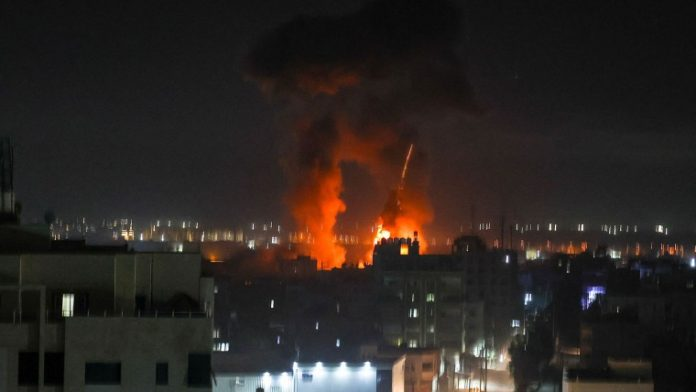 Israeli military says it launched airstrike at Gaza over incendiary balloons