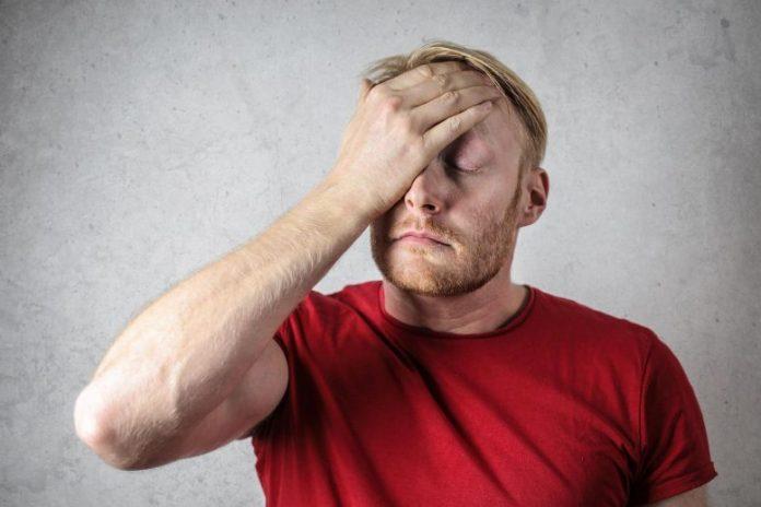Man Stressed Confused