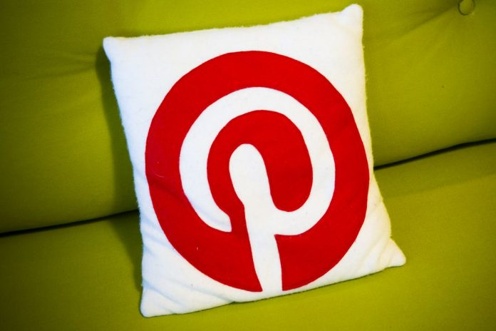 Pillow with the Pinterest logo