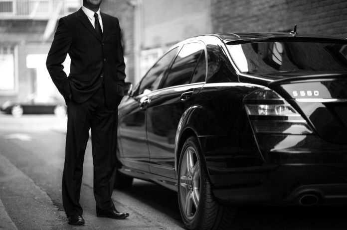 black-car-driver-bw