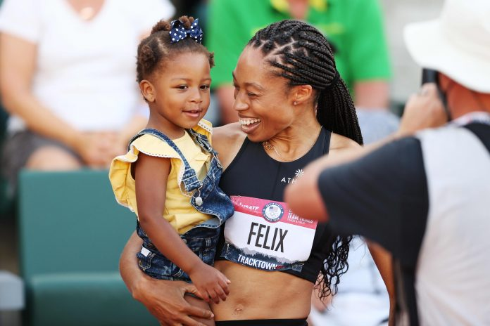 Allyson Felix strives for gold and equality for mother athletes