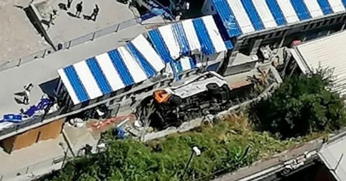 At least 1 killed, several injured after bus falls off road in Italy