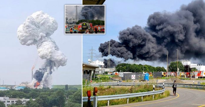 The blast in Leverkusen.