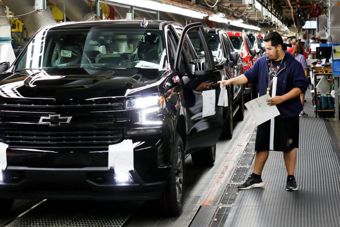 GM to halt most large pickup truck production due to chip shortage