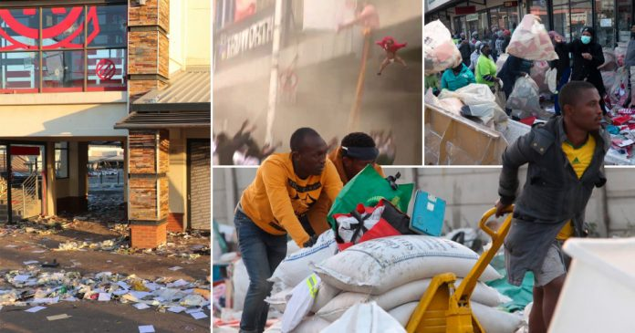 A looted mall, a little toddler being thrown off a building, people running away with groceries. South Africans are hoping the rioting and looting will scare the government to fixing unemployment, poverty and inequality.