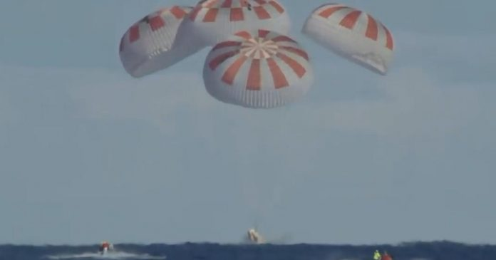 SpaceX's Crew Dragon safely returns to Earth - Video