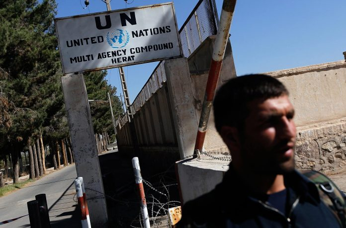 UN compound in Herat, Afghanistan attacked by 'anti-government elements'