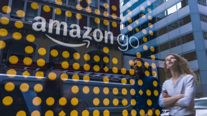 Shopping at the Amazon Go store in San Francisco