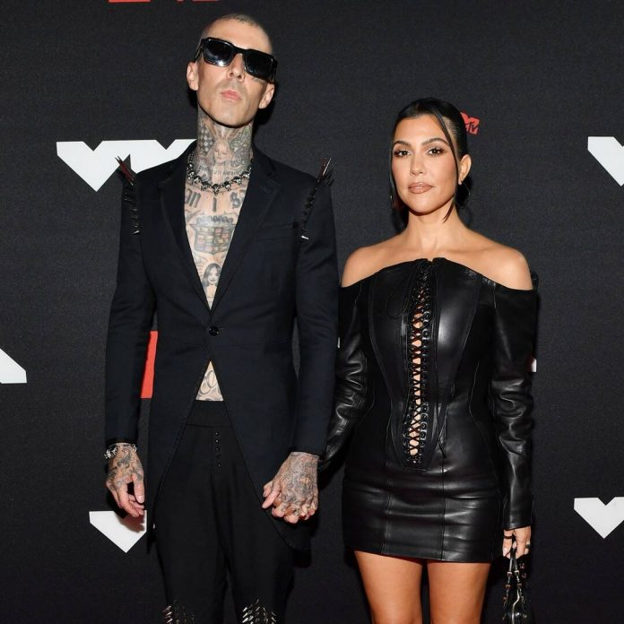 Kourtney Kardashian & Travis Barker Make Red Carpet Debut at the VMAs