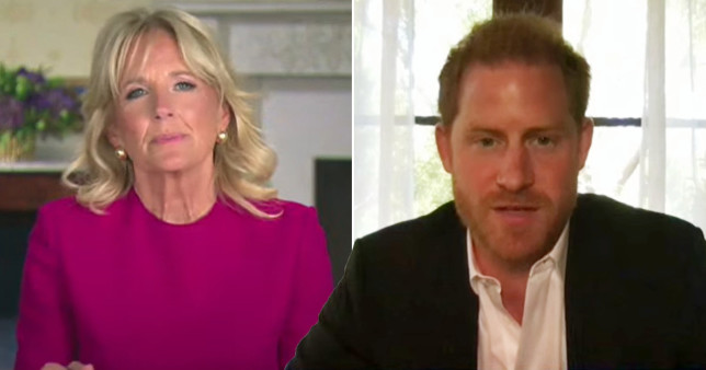 First Lady Jill Biden and Prince Harry