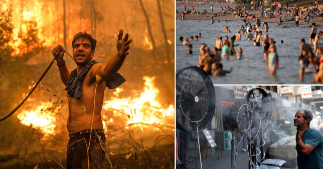 Extreme heat in various different scenes.