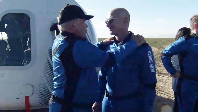 William Shatner speech to Jeff Bezos after Blue Origin launch